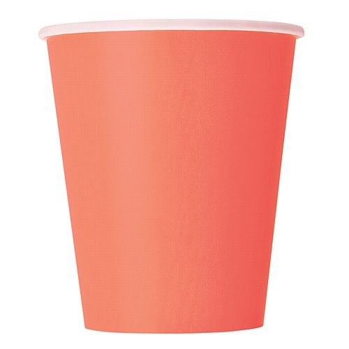 Coral Paper Cups - 250ml - Each