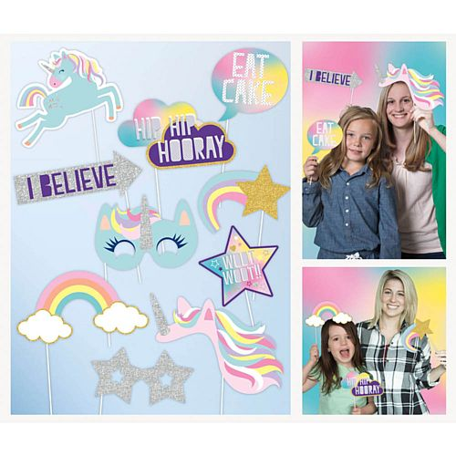 Unicorn Photo Props - Pack of 10