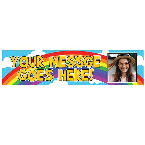 Rainbow Personalised Photo Banner - 1.2m