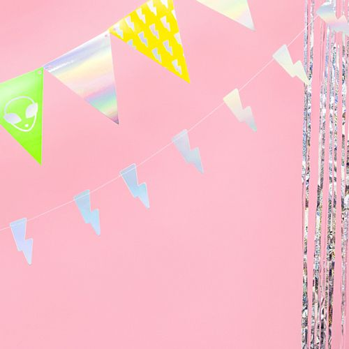 Irridescent Lightening Bolt Garland - 1.2m