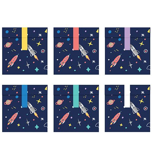 Space Party Treat Bags - 14cm - Pack of 6