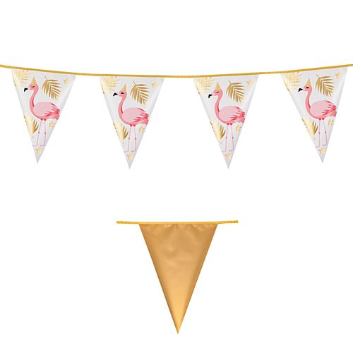 Flamingo Gold Foil Bunting - 4m