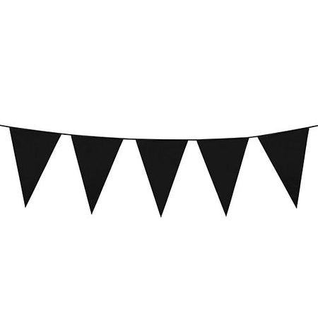 Black Mini Plastic Bunting - 3m