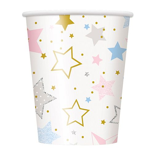 Twinkle Twinkle Little Star Paper Cups - 250ml - Pack of 8