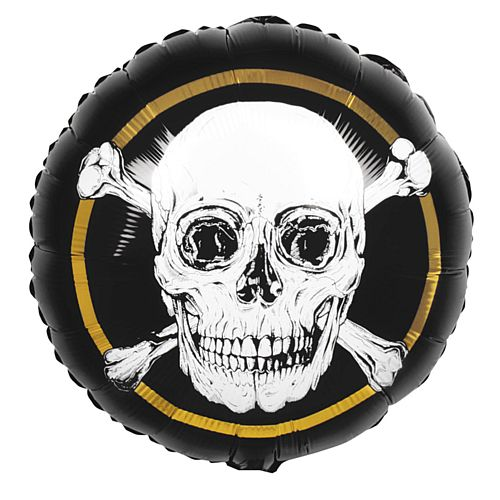 Pirate Skull Foil Balloon - 18""