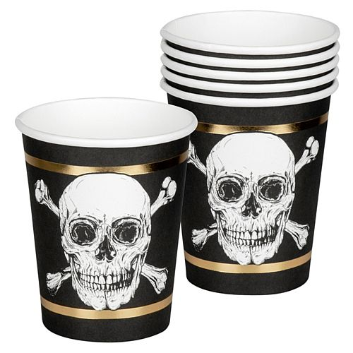 Pirate Paper Cups - 220ml - Pack of 6