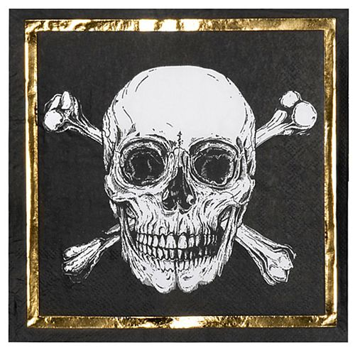 Pirate Paper Napkins - 33cm - Pack of 12