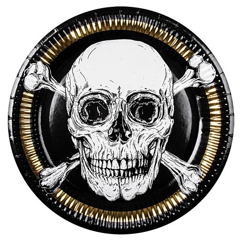Pirate Paper Plates - 23cm - Pack of 6