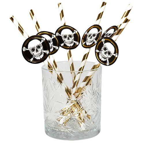 Pirate Paper Straws - Pack of 6