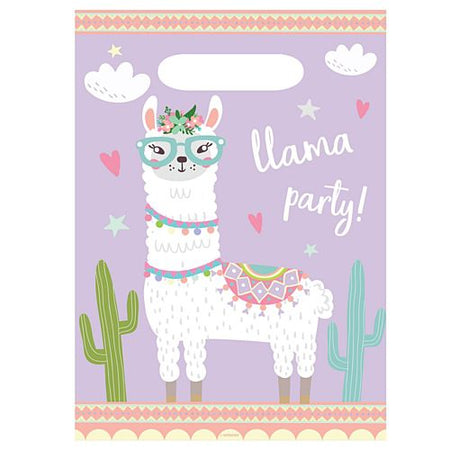 Llama Party Bags - Pack of 8