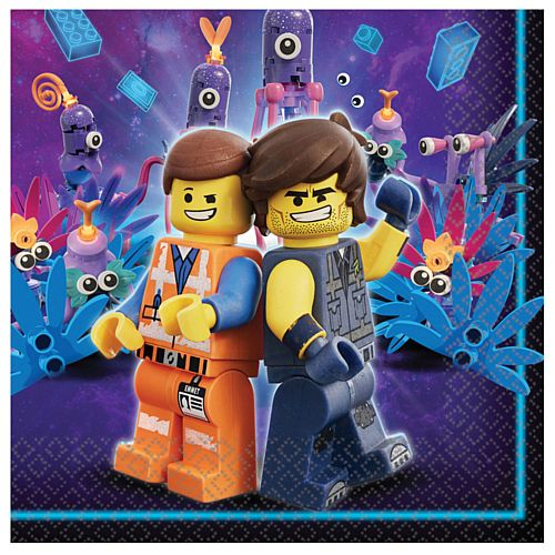 Lego Movie 2 Luncheon Napkins - 33cm - Pack of 16