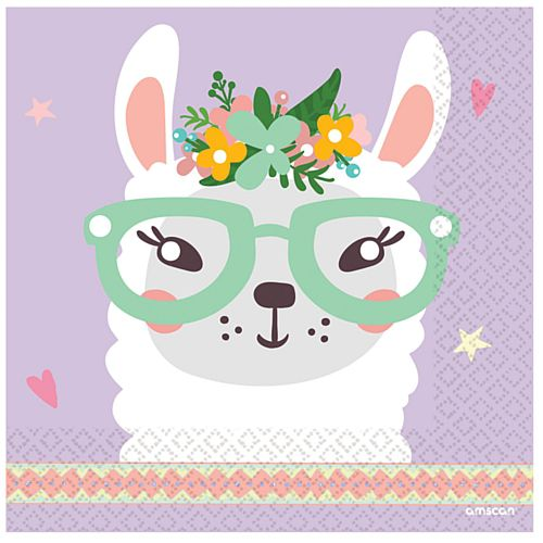 Llama Luncheon Napkins - 33cm - Pack of 16