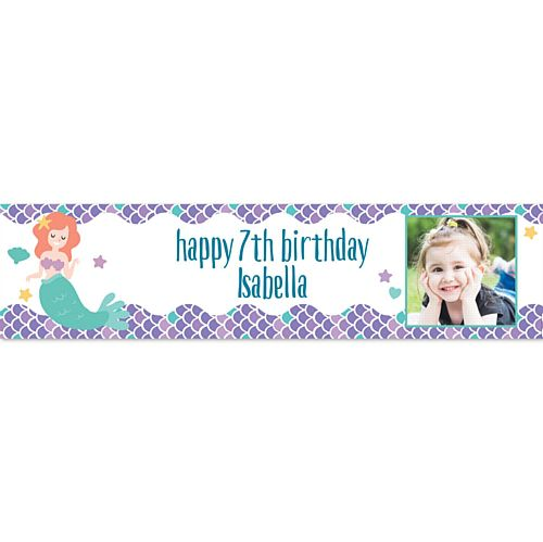 Mermaid Personalised Photo Banner - 1.2m