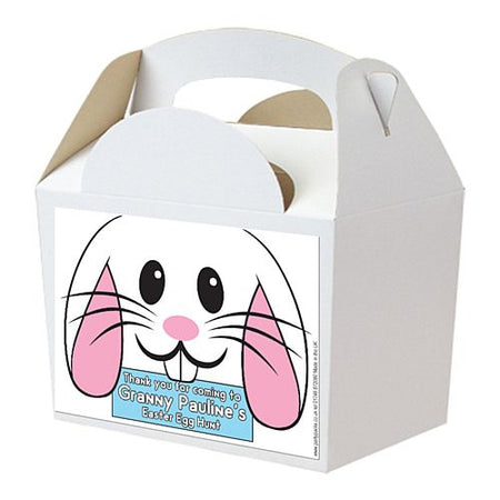 Easter Egg Hunt Bunny Face Personalised Party Box Kit - 15cm - Pack of 4