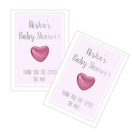 Personalised Baby Shower Favours Pink Pack Of 8