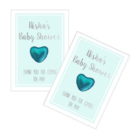 Personalised Baby Shower Favours - Mint - Pack of 8