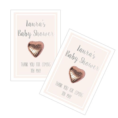 Personalised Baby Shower Favours - Rose Gold - Pack of 8