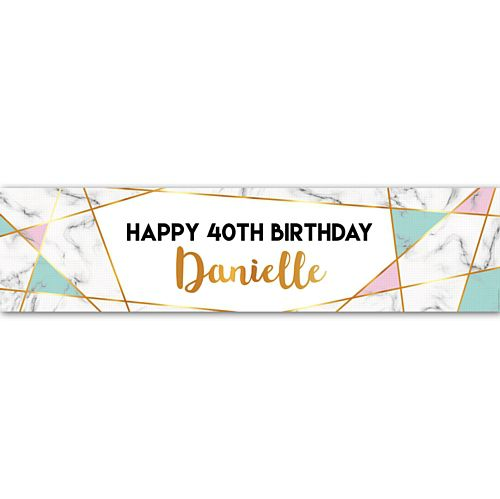 Marble Personalised Banner - 1.2m