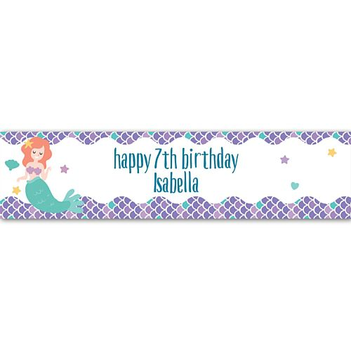 Mermaid Personalised Banner - 1.2m