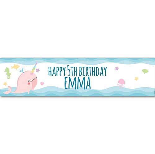 Narwhal Personalised Banner - 1.2m