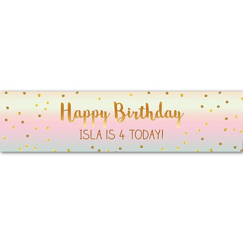 Ombre Personalised Banner - 1.2m