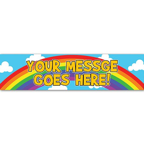 Rainbow Personalised Banner - 1.2m