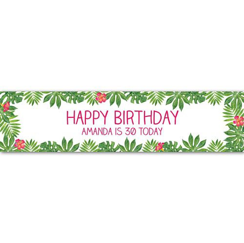 Tropical Leaves Personalised Banner - 1.2m