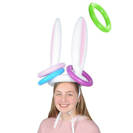 Click to view product details and reviews for Inflatable Bunny Ears Ring Toss 43cm Set Of 5.