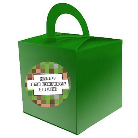 Personalised Pixel Blocks Favour Boxes - Pack of 15