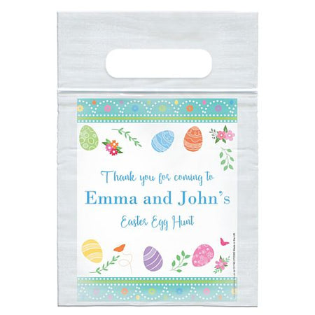 Personalised Happy Easter Card Insert With Sealed Party Bag - Each