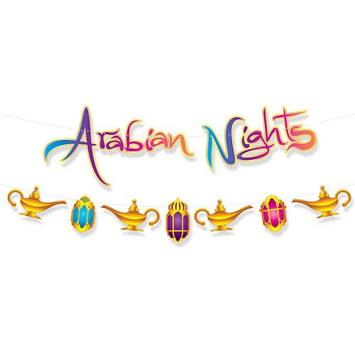 Arabain Nights Letter Banner Set - 3.6m