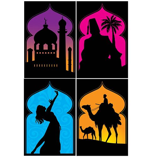 Arabian Nights Silhouettes - 48cm - Pack of 4
