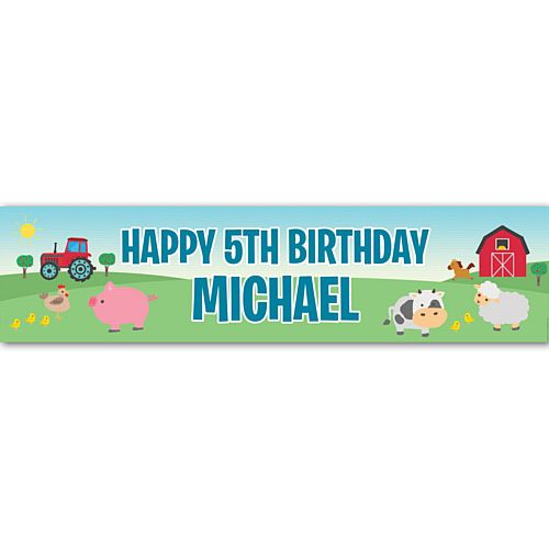 Farm Personalised Banner - 1.2m