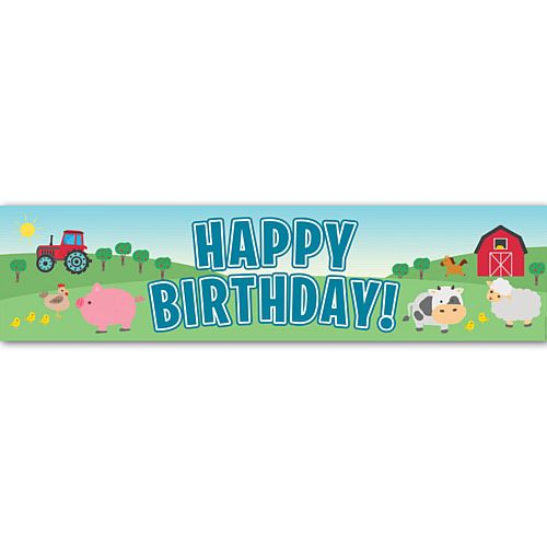 Farm Happy Birthday Banner - 1.2m