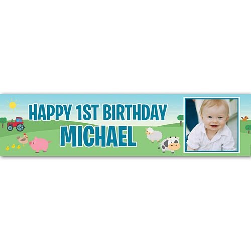 Farm Personalised Photo Banner - 1.2m