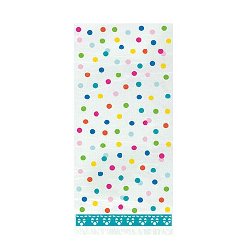 Polka Dot Cello Party Bags - Pack of 20