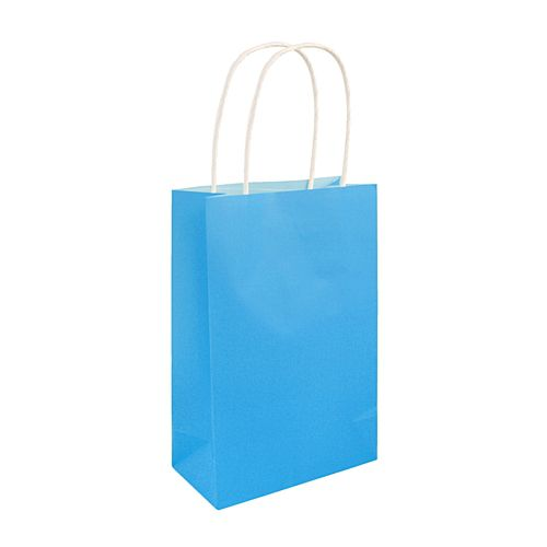 Neon Blue Paper Party Bags - 21cm - Each