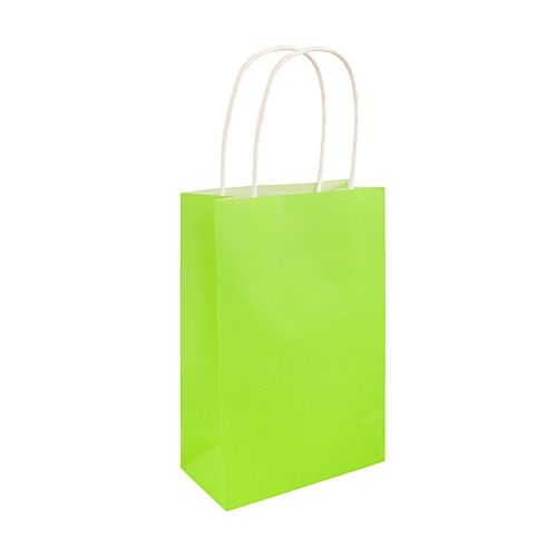 Neon Green Paper Party Bags - 21cm - Each