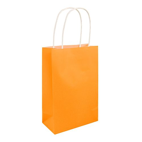 Neon Orange Paper Party Bags - 21cm - Each