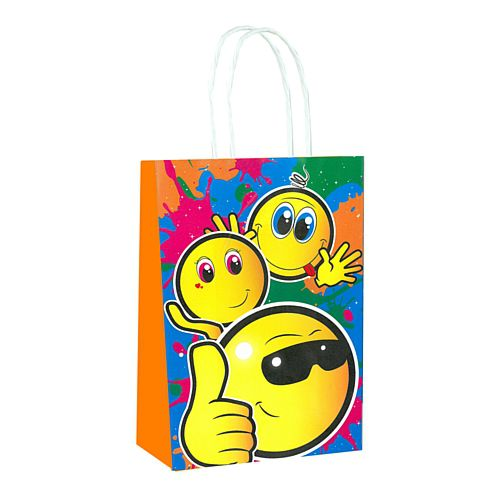 Smiley Emoji Paper Party Bags - 21cm - Each