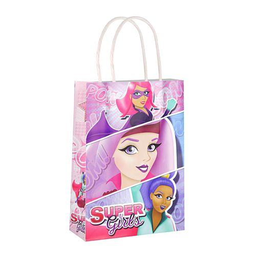 Super Girls Paper Party Bags - 21cm - Each