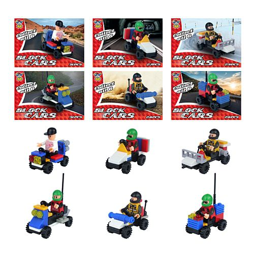 Toy Brick Cars - Assorted - Each