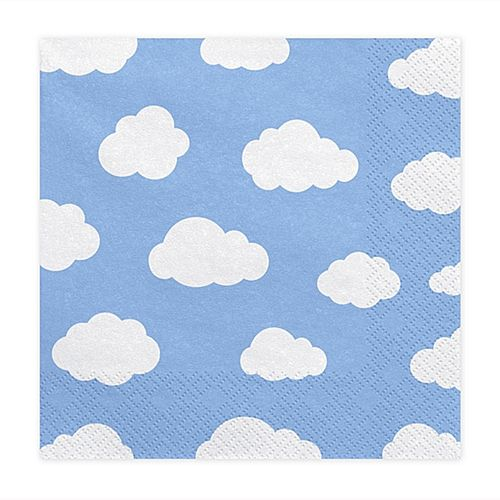 Blue Cloud Napkins - 33cm - Pack of 20