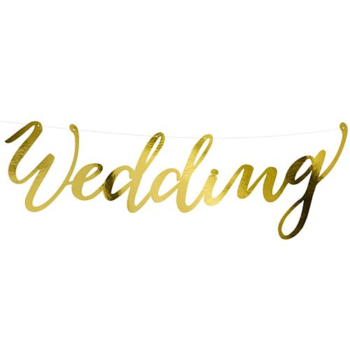 Gold 'Wedding' Letter Banner - 45cm