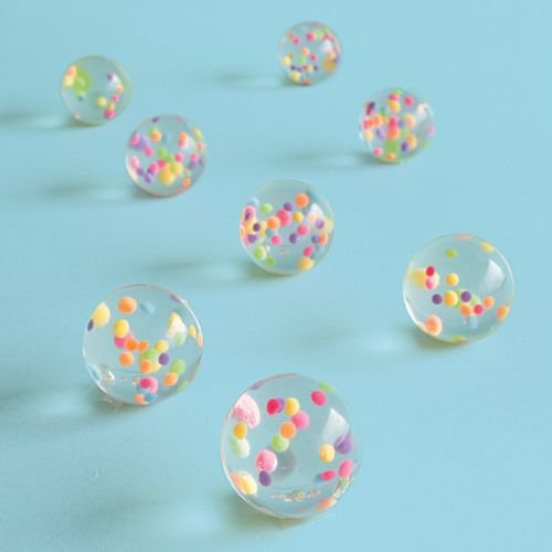 Confetti Filled Bouncy Balls - Pack of 8