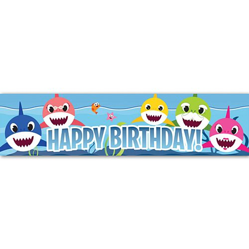 Baby Shark Happy Birthday Banner - 1.2m