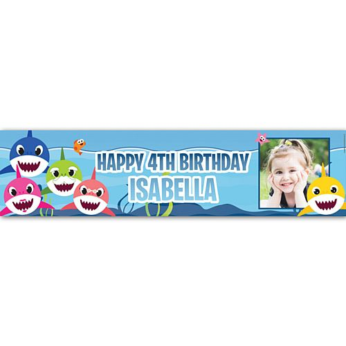 Baby Shark Personalised Photo Banner - 1.2m