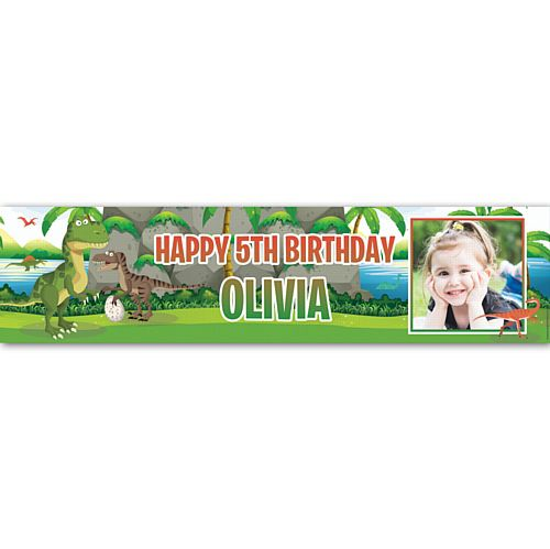Dinosaur Park Personalised Photo Banner - 1.2m