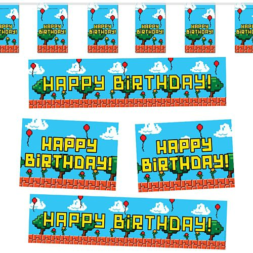 Video Game Happy Birthday Decoration Pack