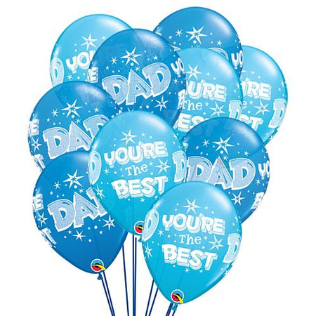 Dad Youre The Best Fathers Day Latex Balloons 11 Pack Of 10